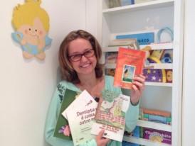 Doação de todos cinco livros infantis para 50 bibliotecas de escolas em São Paulo