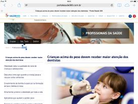 PORTAL SAÚDE 360: OBESIDADE INFANTIL E SAÚDE ORAL