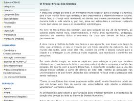 CRORJ: O TROCA-TROCA DOS DENTES