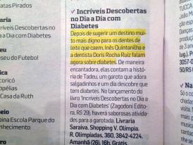 FOLHA: LANÁMENTO LIVRO DIABETES