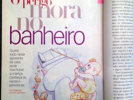 REVISTA CASA E JARDIM: O PERIGO MORA NO BANHEIRO