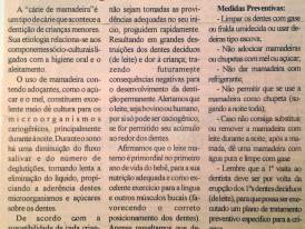 JORNAL DE MOEMA: CÁRIE NA PRIMEIRA INFÂNCIA